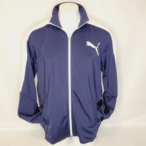 Puma Men's Contrast Jacket Navy/White